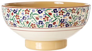 Salad Bowl Wild Flower Meadow Nicholas Mosse Pottery handcrafted spongeware Ireland