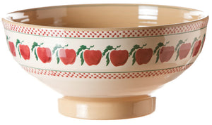 Salad bowl Apple spongeware pottery by Nicholas Mosse Pottery - Ireland - Handmade Irish Craft.