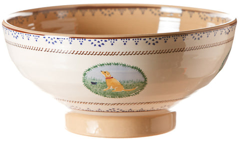 Salad bowl Assorted Animals spongeware pottery by Nicholas Mosse Pottery - Ireland - Handmade Irish Craft.