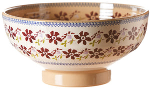 Salad bowl Clematis spongeware pottery by Nicholas Mosse Pottery - Ireland - Handmade Irish Craft.