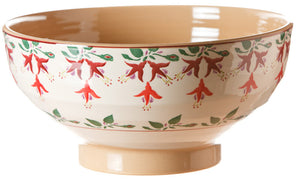 Salad bowl Fuchisa spongeware pottery by Nicholas Mosse Pottery - Ireland - Handmade Irish Craft.