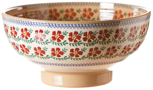 Salad bowl Old Rose spongeware pottery by Nicholas Mosse Pottery - Ireland - Handmade Irish Craft.
