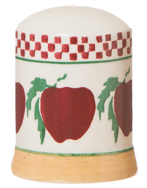 Salt cruet Apple spongeware pottery by Nicholas Mosse Pottery - Ireland - Handmade Irish Craft.