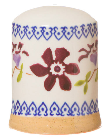 Salt cruet Clematis spongeware pottery by Nicholas Mosse Pottery - Ireland - Handmade Irish Craft.