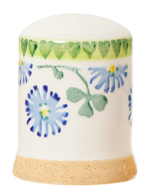 Salt cruet Clover spongeware pottery by Nicholas Mosse Pottery - Ireland - Handmade Irish Craft