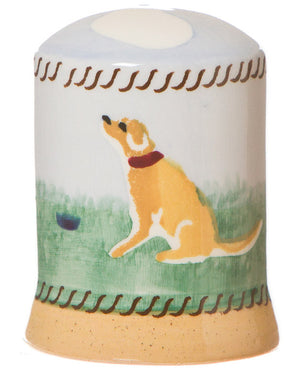 Salt cruet Dog spongeware pottery by Nicholas Mosse Pottery - Ireland - Handmade Irish Craft.