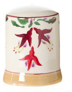 Salt cruet Fuchsia spongeware pottery by Nicholas Mosse Pottery - Ireland - Handmade Irish Craft.