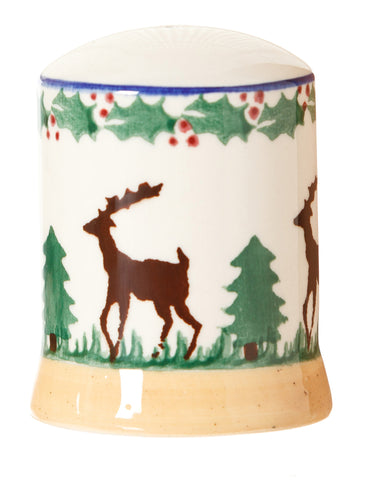 Salt cruet Reindeer spongeware pottery by Nicholas Mosse Pottery - Ireland - Handmade Irish Craft