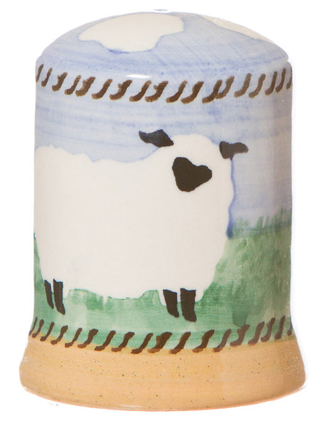 Salt cruet Sheep spongeware pottery by Nicholas Mosse Pottery - Ireland - Handmade Irish Craft.