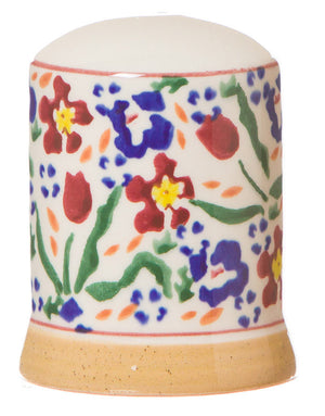 Salt cruet Wild Flower Meadow spongeware pottery by Nicholas Mosse Pottery - Ireland - Handmade Irish Craft.