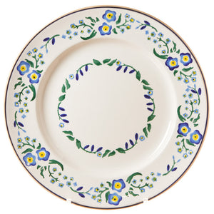 Serving plate Forget Me Not spongeware pottery by Nicholas Mosse Pottery - Ireland - Handmade Irish Craft.