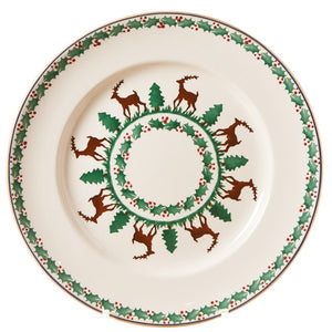Serving plate Reindeer spongeware pottery by Nicholas Mosse Pottery - Ireland - Handmade Irish Craft.
