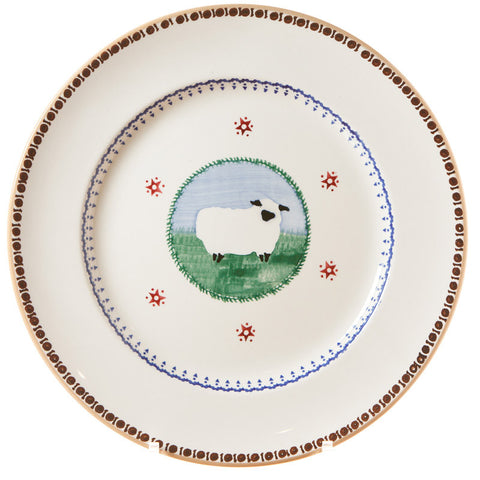 Serving plate Sheep spongeware pottery by Nicholas Mosse Pottery - Ireland - Handmade Irish Craft.