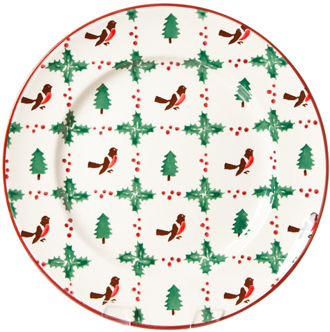 SERVING PLATE WINTER ROBIN