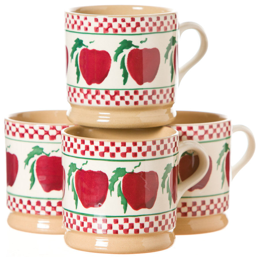 4 Small Mugs Apple