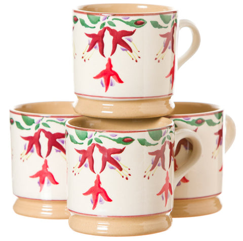 4 Small Mugs Fuchsia