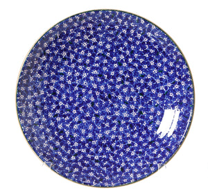Shallow Dish Lawn Dark Blue spongeware pottery by Nicholas Mosse Pottery - Ireland - Handmade Irish Craft
