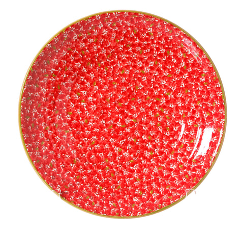 Shallow Dish Lawn Red spongeware pottery by Nicholas Mosse Pottery - Ireland - Handmade Irish Craft