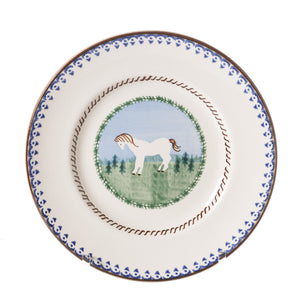 Side Plate Pony spongeware by Nicholas Mosse Pottery - Ireland - Handmade Irish Craft