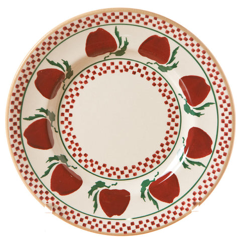 Side plate Apple spongeware pottery by Nicholas Mosse Pottery - Ireland - Handmade Irish Craft.