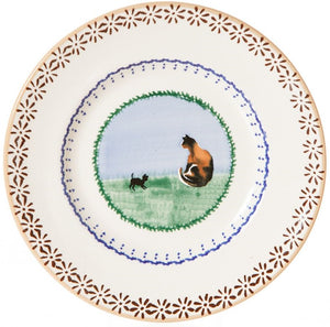 Side Plate Cat Nicholas Mosse Pottery handcrafted sponge ware Ireland