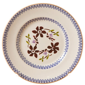 Side plate Clematis spongeware pottery by Nicholas Mosse Pottery - Ireland - Handmade Irish Craft.