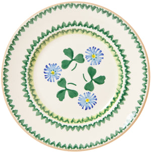 Side Plate Clover Nicholas Mosse Pottery handcrafted sponge ware Ireland
