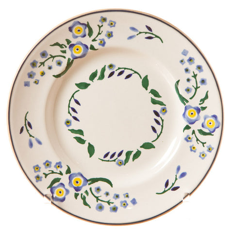 Side plate Forget Me Not spongeware pottery by Nicholas Mosse Pottery - Ireland - Handmade Irish Craft.