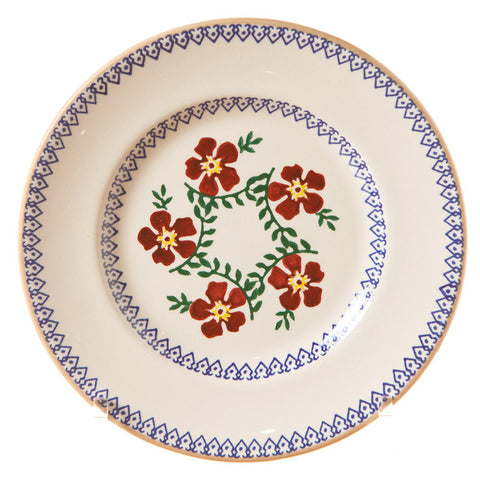Side plate Old Rose spongeware pottery by Nicholas Mosse Pottery - Ireland - Handmade Irish Craft.