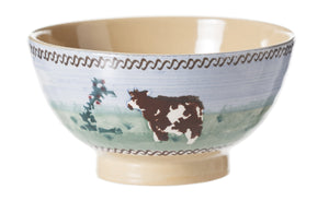 Small Bowl Cow spongeware by Nicholas Mosse Pottery - Ireland - Handmade Irish Craft