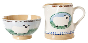 Small Bowl and Small Cylinder Sheep by Nicholas Mosse Pottery - Ireland - Handmade Irish Craft