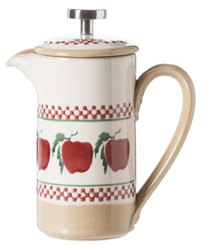 Small Cafetiere Coffee Pot Apple spongeware by Nicholas Mosse Pottery - Ireland - Handmade Irish Craft