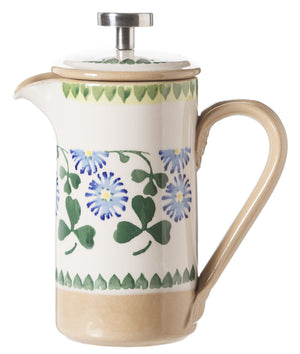 Small Cafetiere Coffee Pot Clover spongeware by Nicholas Mosse Pottery - Ireland - Handmade Irish Craft