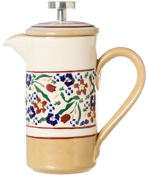 Small Cafetiere Wild Flower Meadow Nicholas Mosse Pottery handcrafted spongeware Ireland