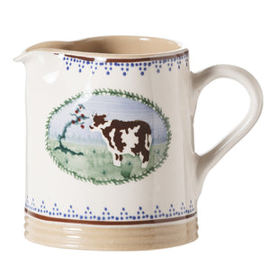 Small Cylinder Jug Cow spongeware by Nicholas Mosse Pottery - Ireland - Handmade Irish Craft