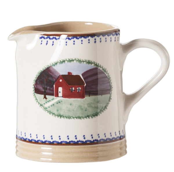 Small Cylinder Jug Farmhouse spongeware by Nicholas Mosse Pottery - Ireland - Handmade Irish Craft