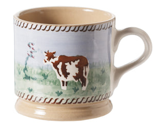 Nicholas Mosse Small Mug Cow spongeware pottery by Nicholas Mosse Pottery - Ireland - Handmade Irish Craft