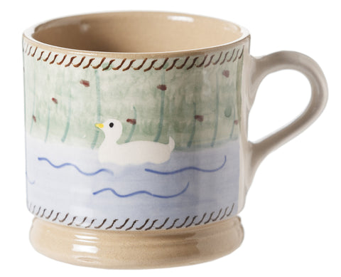 Nicholas Mosse Small Mug Duck spongeware pottery by Nicholas Mosse Pottery - Ireland - Handmade Irish Craft