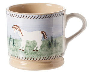 Nicholas Mosse Small Mug Pony spongeware pottery by Nicholas Mosse Pottery - Ireland - Handmade Irish Craft