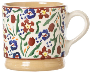 Small Mug Wild Flower Meadow Nicholas Mosse Pottery handcrafted spongeware Ireland