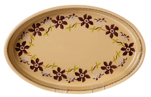 Small Oval Oven Dish Clematis