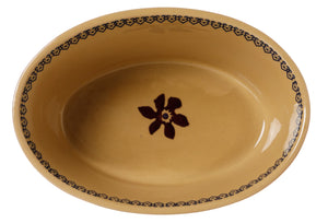 Small Oval Pie Dish Clematis