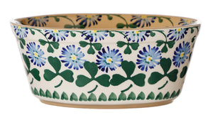 Small Oval Pie Dish Clover spongeware pottery by Nicholas Mosse, Ireland - Handmade Irish Craft - nicholasmosse.com
