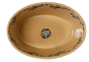 Small Oval Pie Dish Clover