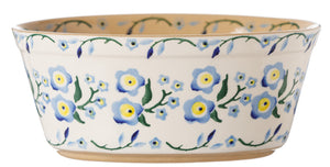 Small Oval Pie Dish Forget Me Not
