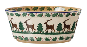 Small Oval Pie Dish Reindeer