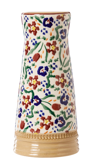 Small Tapered Vase Wild Flower Meadow Nicholas Mosse Pottery handcrafted sponge ware Ireland