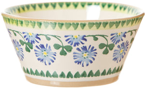 Small Angled Bowl Clover Nicholas Mosse Pottery handcrafted sponge ware Ireland