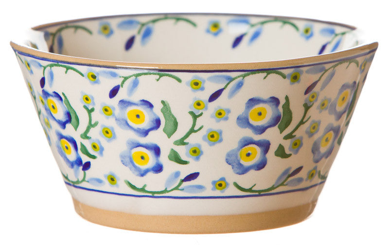Small angled bowl Forget Me Not spongeware pottery by Nicholas Mosse Pottery - Ireland - Handmade irish Craft