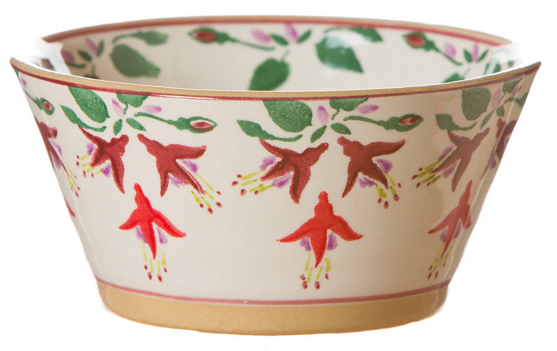 Small angled bowl Fuchsia spongeware pottery by Nicholas Mosse Pottery - Ireland - Handmade Irish Craft